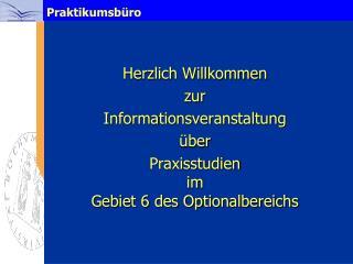 Herzlich Willkommen  zur  Informationsveranstaltung  über