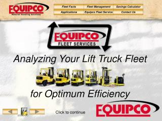 Analyzing Your Lift Truck Fleet   for Optimum Efficiency