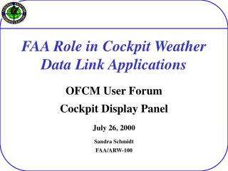 FAA Role in Cockpit Weather Data Link Applications