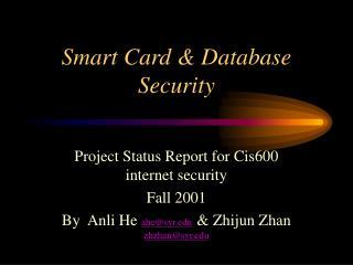 Smart Card & Database Security