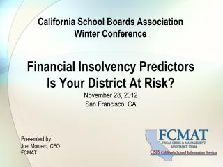 California School Boards Association Winter Conference