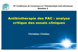 Pneumonies Aigues Communautaires : analyse critique des essais cliniques