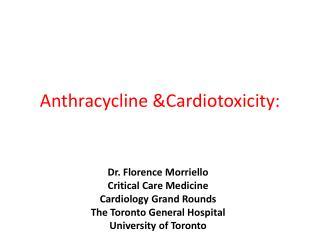 Anthracycline &Cardiotoxicity: