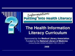 The Health Information Literacy Curriculum
