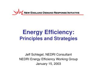 Energy Efficiency: Principles and Strategies