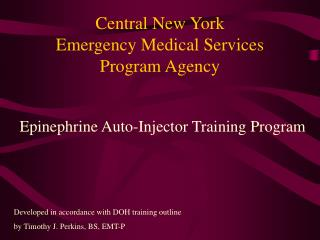 Central New York  Emergency Medical Services  Program Agency
