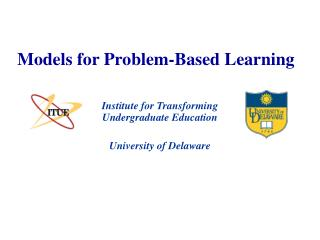Models for Problem-Based Learning