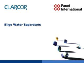 Bilge Water Separators