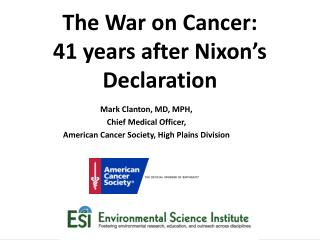The War on Cancer: 41 years after Nixon's Declaration