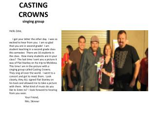 CASTING CROWNS   singing group