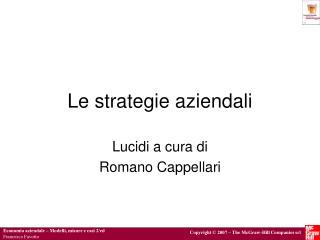 Le strategie aziendali