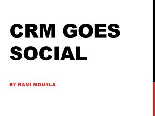CRM goes social
