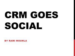 CRM goes social