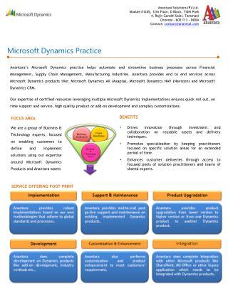 Microsoft Dynamics Practice