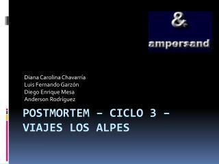 POSTMORTEM – CICLO 3 – VIAJES LOS ALPES