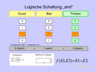 "Logische Schaltung ""and"""