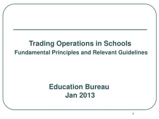 Education Bureau Jan 2013