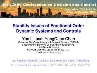 Stability Issues of Fractional-Order Dynamic Systems and Controls