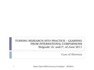 Case of Slovenia