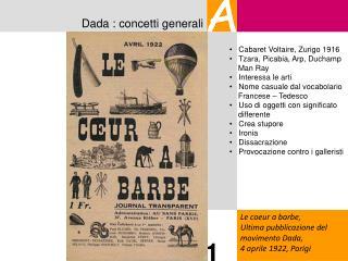 Dada : concetti generali