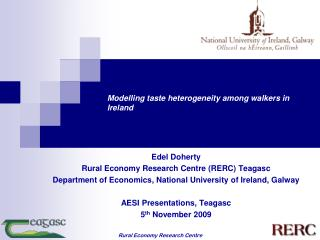 Modelling taste heterogeneity among walkers in Ireland