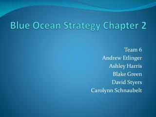Blue Ocean Strategy Chapter 2