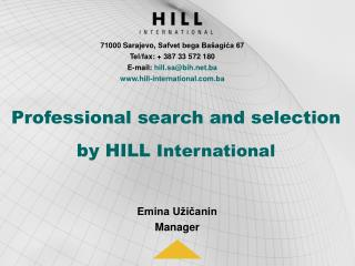 Professional search and selection