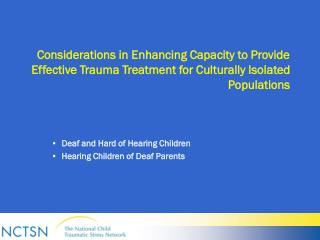 Deaf and Hard of Hearing Children   Hearing Children of Deaf Parents