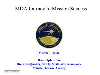 MDA Journey to Mission Success