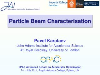 Particle Beam Characterisation