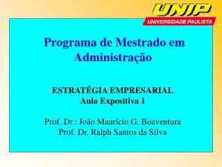 Programa de Mestrado em Administração  ESTRATÉGIA EMPRESARIAL