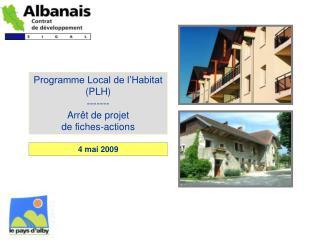 Programme Local de l'Habitat (PLH) ------- Arrêt de projet de fiches-actions