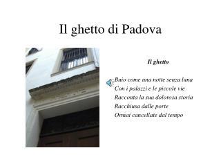 Il ghetto di Padova