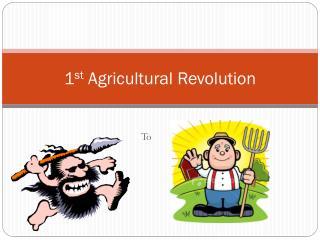 1 st  Agricultural Revolution