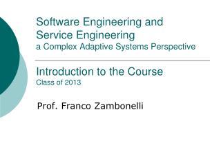 Prof. Franco Zambonelli
