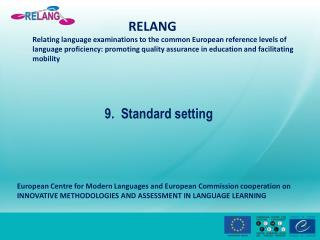 9.   Standard  setting