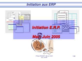 Initiation aux ERP