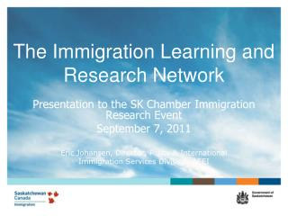 The  Immigration Learning and Research Network
