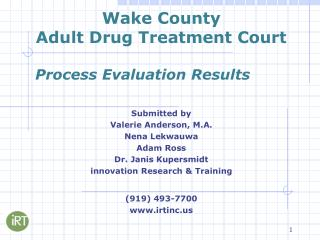 Wake County Adult Drug Treatment Court