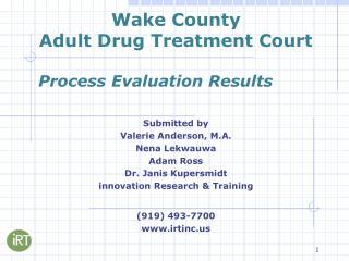Wake County Adult Drug Treatment Court