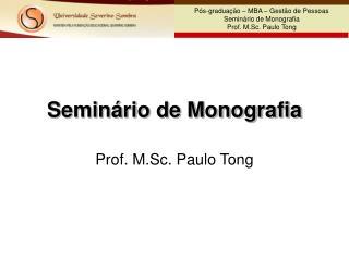 Seminário de Monografia
