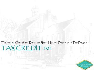 Tax Credit 101