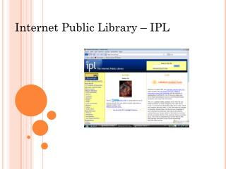 Internet Public Library � IPL