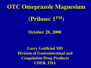 OTC Omeprazole Magnesium Prilosec 1TM