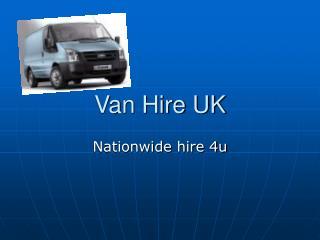 Van Hire UK