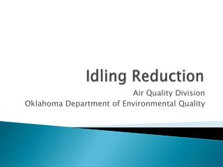 Idling Reduction