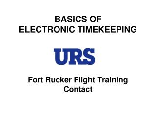 BASICS OF  ELECTRONIC TIMEKEEPING