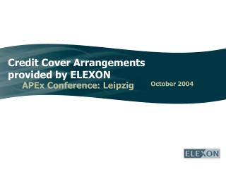 Credit Cover Arrangements provided by ELEXON