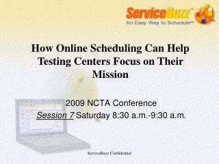 2009 NCTA Conference Session 7  Saturday 8:30 a.m.-9:30 a.m.