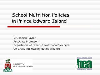 School Nutrition Policies  in Prince Edward Island